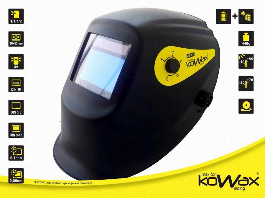 Samostmívací svářečská kukla KOWAX KWX73