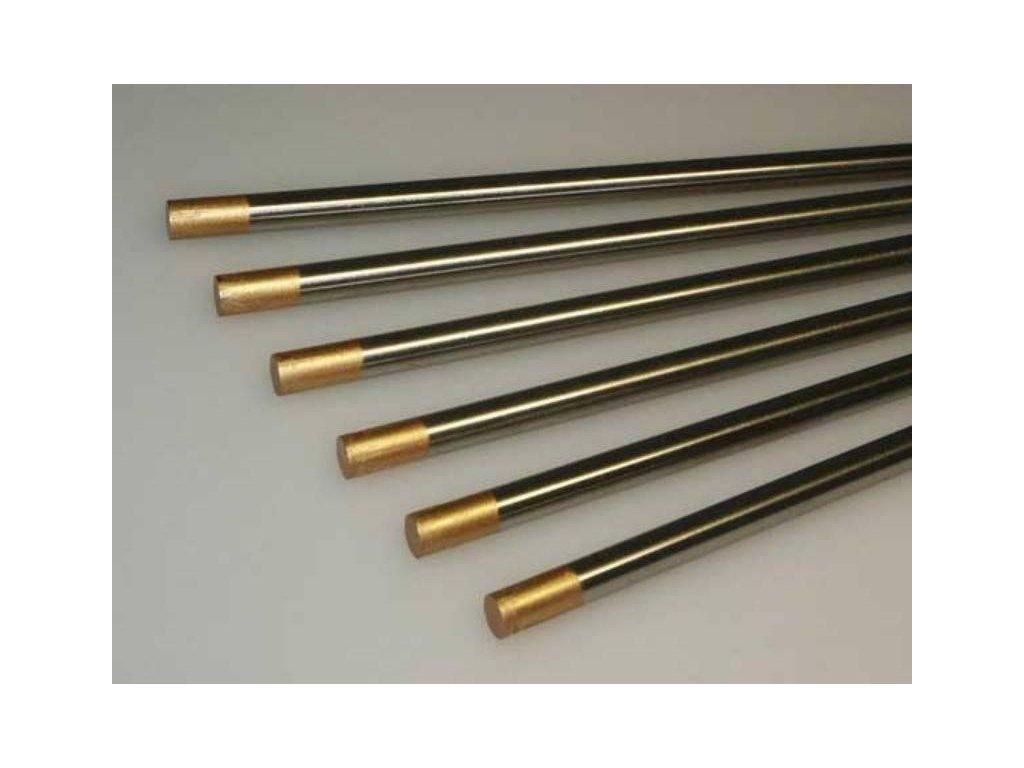 Svářecí elektroda wolframová WL15 2,4x175 zlatá BINZEL