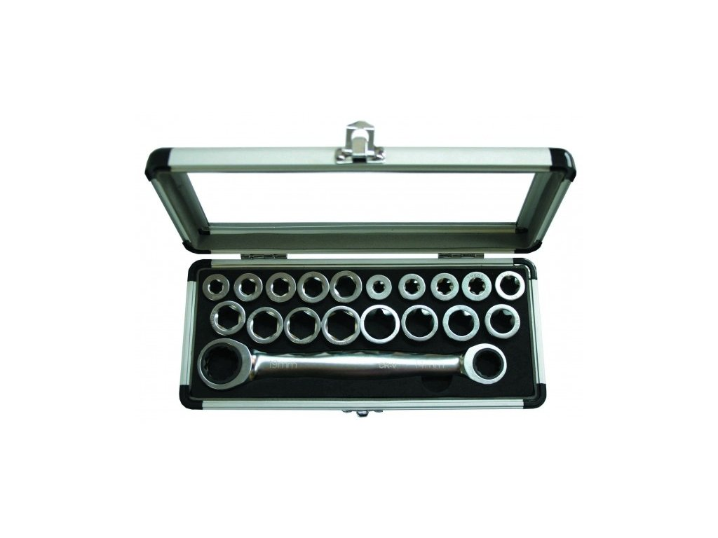 Sada vyměnitelných ráčnových klíčů GOLA 19ks
