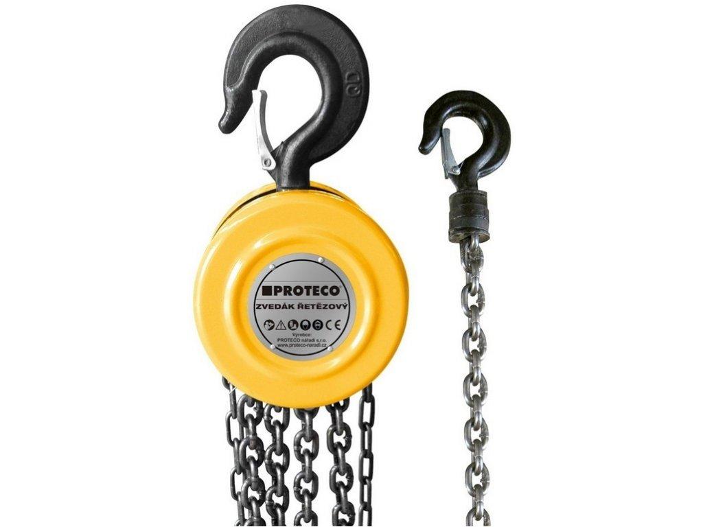Zvedák řetězový PROTECO 0,5t (2,5m)