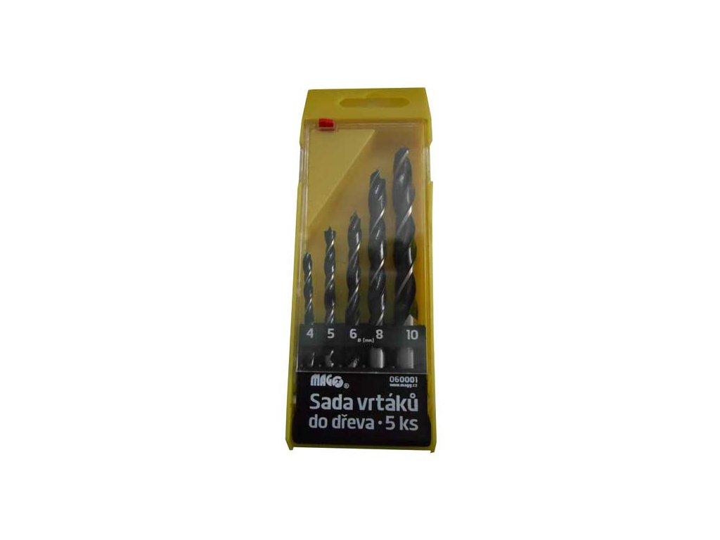 Sada vrtáků do dřeva MAGG 5ks (4,5,6,8,10 mm)