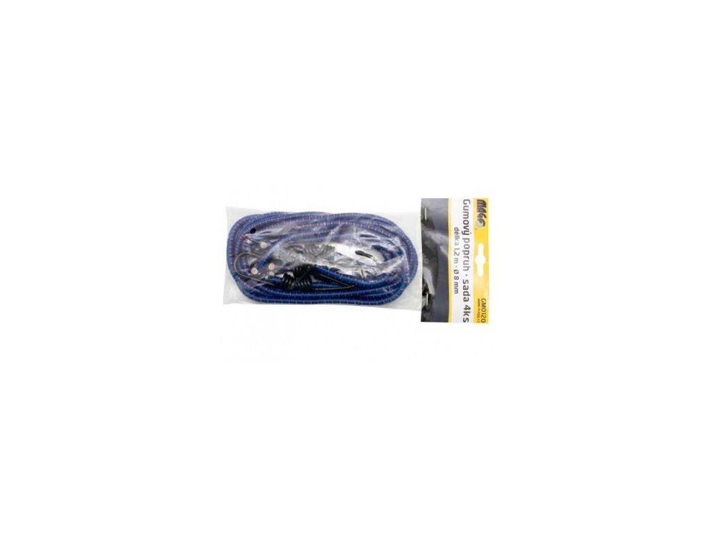 Sada popruhů MAGG gumových pr.8mm/1,2m (4ks)