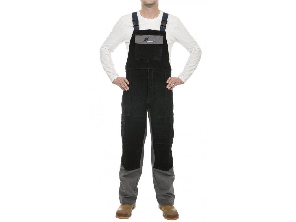 Svářečské kalhoty WELDAS Arc Knight s laclem a koženou výstuží