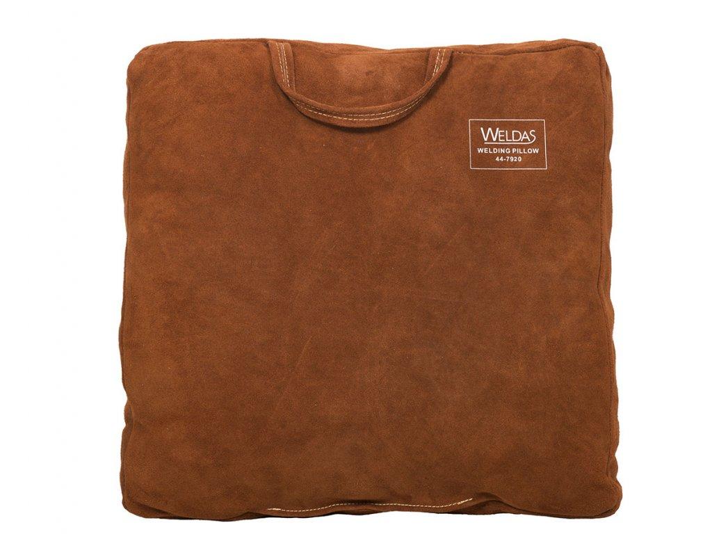 Polštář pro svářeče WELDAS Leather 50 x 50 x 8 cm