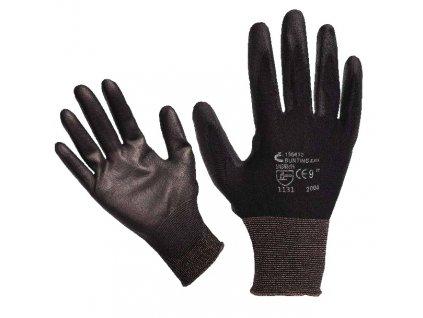 Pracovní rukavice ČERVA BUNTING BLACK (nylon, PU dlaň)