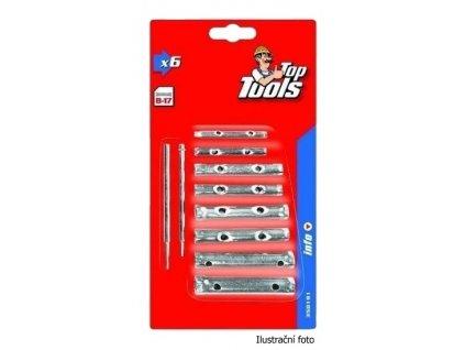 Sada trubkových klíčů Top Tools 8-17mm, 6 ks