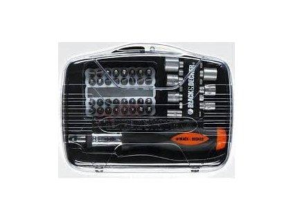 Sada bitů BLACK&DECKER 40 dílná + nástrčné klíče s ráčnovým šroubovákem