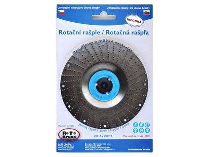 Rašple rotační 125x22,2 mm jemná čepel 1,5mm