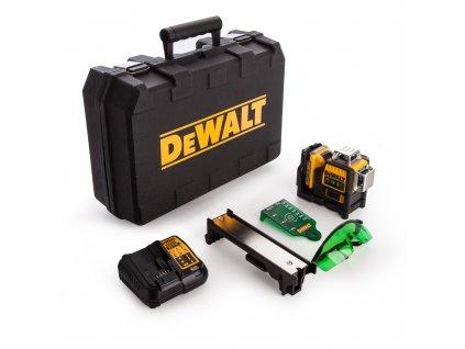 Aku laser DeWALT DCE089D1G Multi Line zelený 10,8V XR + aku 2,0Ah a nabíječka