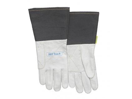 Svářečské rukavice WELDAS TIG SOFTouch s textilní manžetou