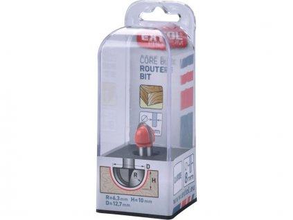 Fréza na dřevo čelní oblá EXTOL R6,3xD12,7xH10 stopka 8 mm