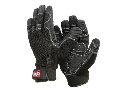 Pracovní rukavice ISSA Line SHOCK černé
