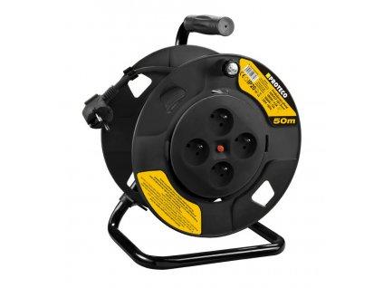 Kabel prodlužovací na cívce PROTECO 50m  pr.1,5 mm
