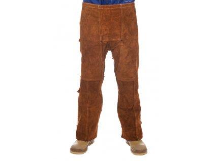 Svářečské kalhoty WELDAS Lava Brown vzadu otevřené - ''kovbojské''