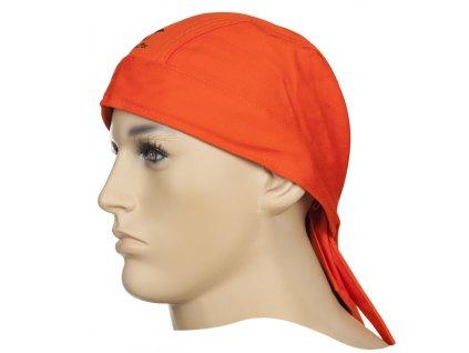 Svářecí šátek WELDAS Fire Fox nehořlavý oranžový (ohnivzdorný)