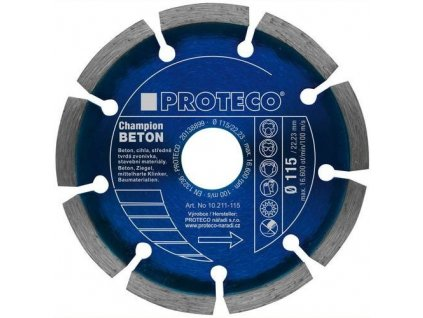 Kotouč diamantový PROTECO 230 mm segment  BETON CHAMPION