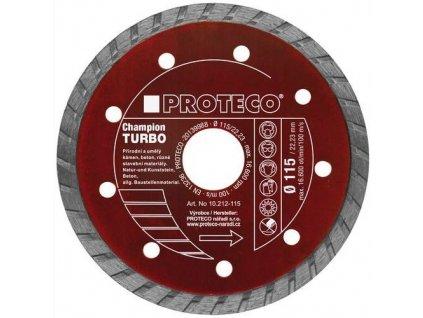Diamantový kotouč PROTECO 230 mm segment TURBO CHAMPION