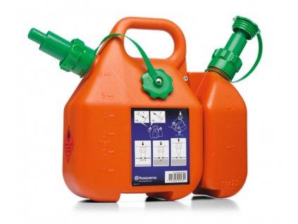 Kanystr na PHM  6l + 2,5l Husqvarna oranžový