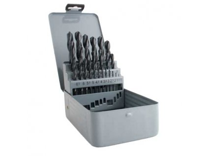 Sada vrtáků MAGG HSS 25 ks (1,0-13,0mm) plechová krabička