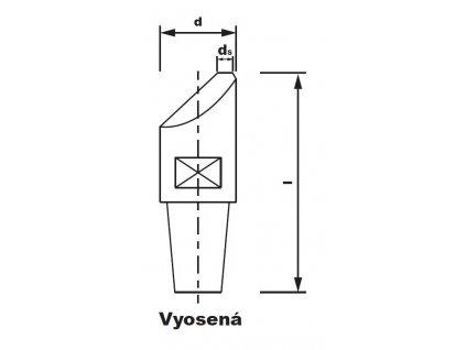Bodová elektroda TECNA 5212 (pr.13) excentrická