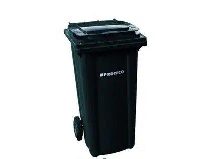 Popelnice 120l PROTECO plastová černá s kolečky