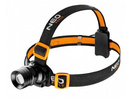 Svítilna čelová Neo Tools 250Lm Zoom