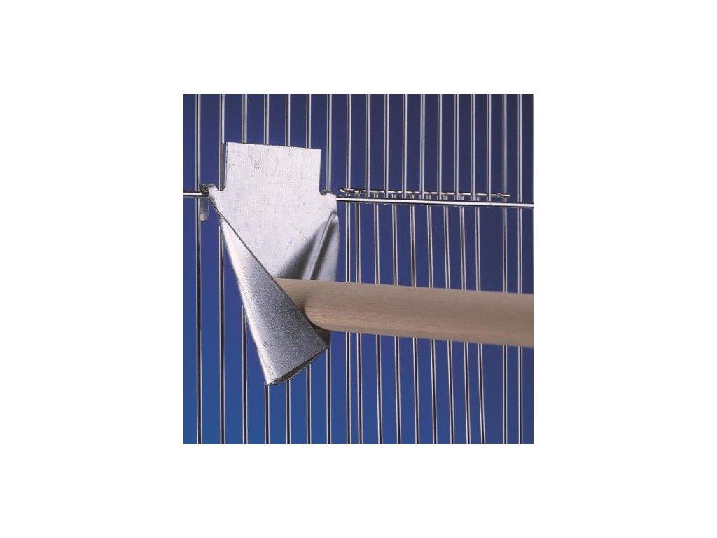 Kovový držák na bidlo do klece 12 x 12 cm 1ks