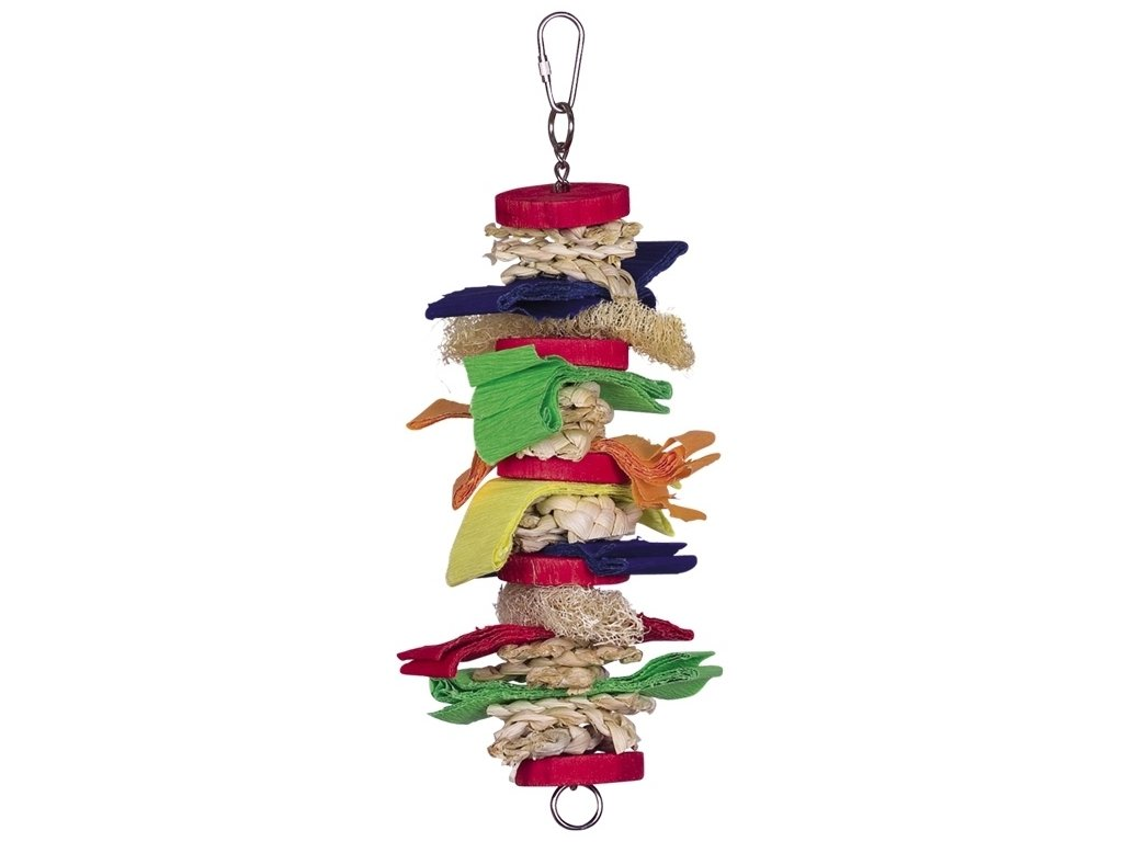 Aktivní hračka pro papoušky 30 x 10 cm