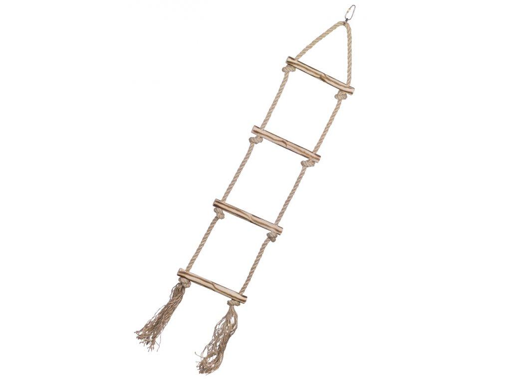 Sisalový žebřík pro papoušky 4 příčky 80cm