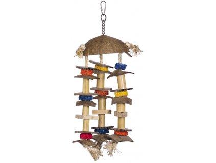 Aktivní hračka pro papoušky 38 x 14 cm