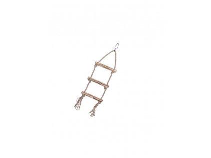 Sisalový žebřík pro papoušky 3 příčky 37cm