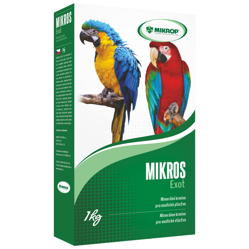 Mikros Exot pro papoušky 1kg