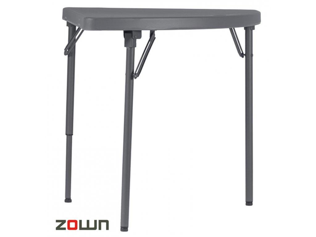 Skládací stůl čtvrtkruh 76 cm