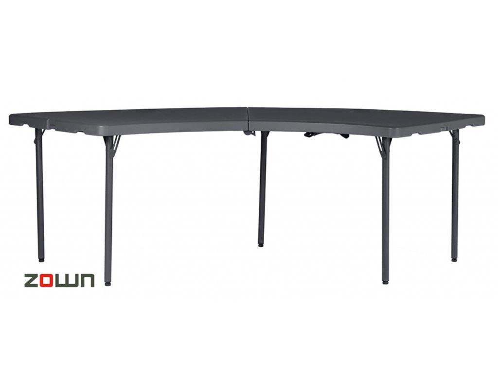 Skládací stůl čtvrtkruh 76 cm (výseč)