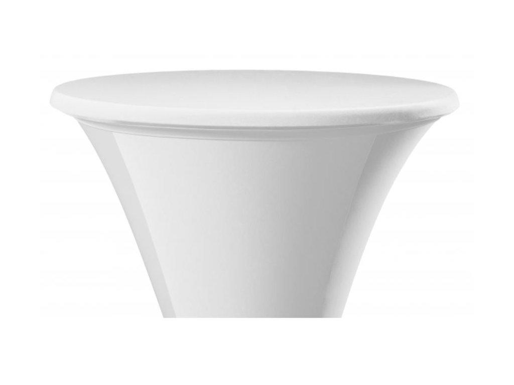 Bílý potah na stůl pr. 60 cm