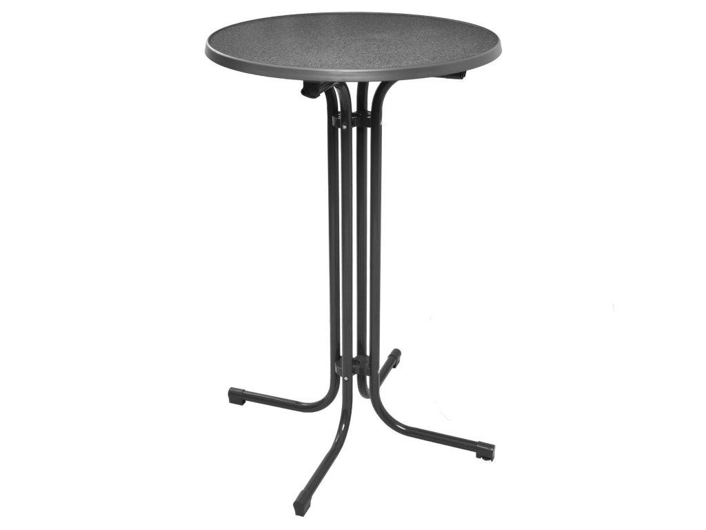 Skládací koktejlový stůl černý
