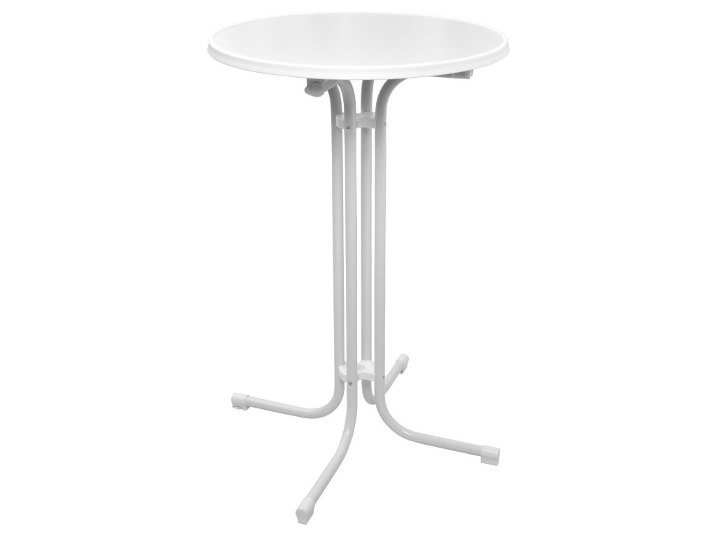 Skládací koktejlový stůl MODENA bílý