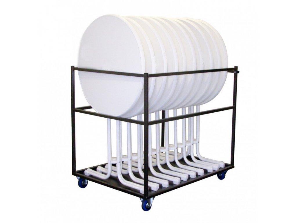 Transportní vozík pro 10 koktejlových stolů