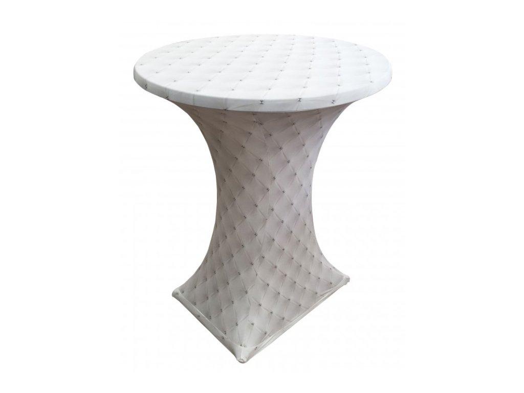 Elastický potah na koktejlový stůl s 3D motivem