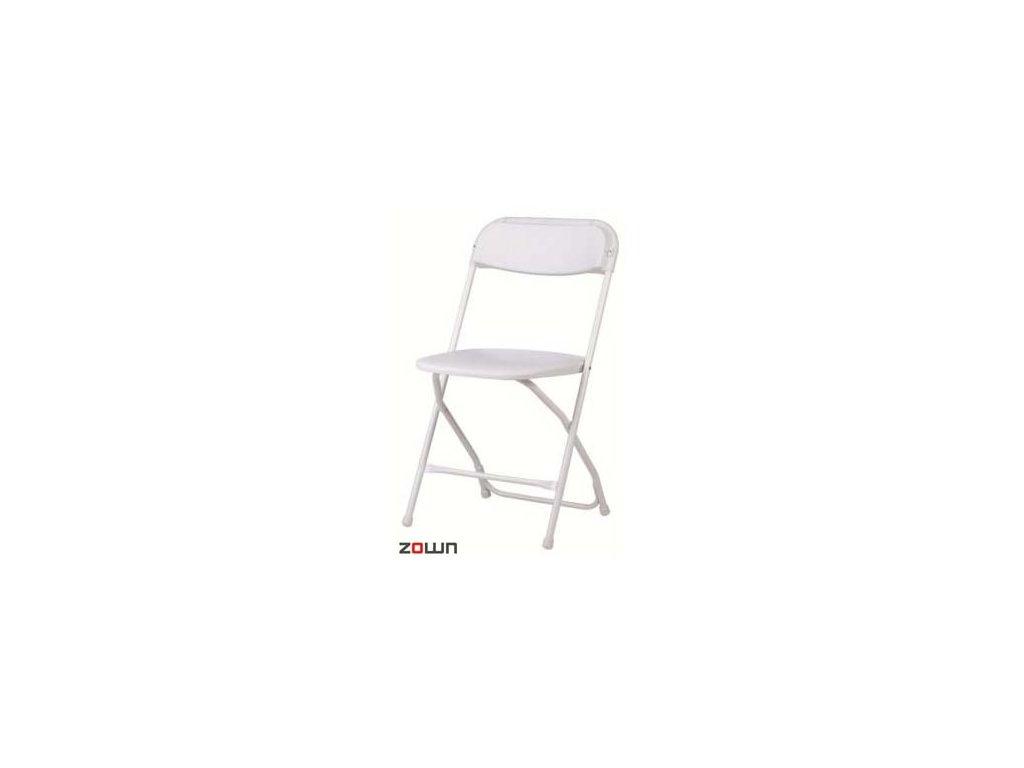 Skládací židle Alex bílá
