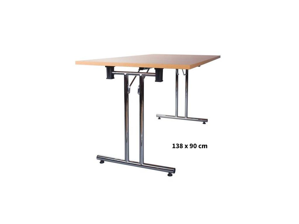 Skládací konferenční stůl 138x90 cm