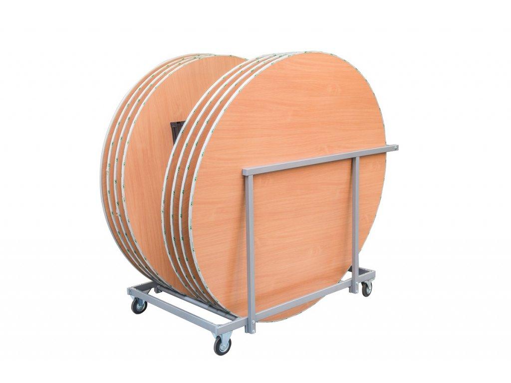 Transportní vozík na kulaté banketové stoly