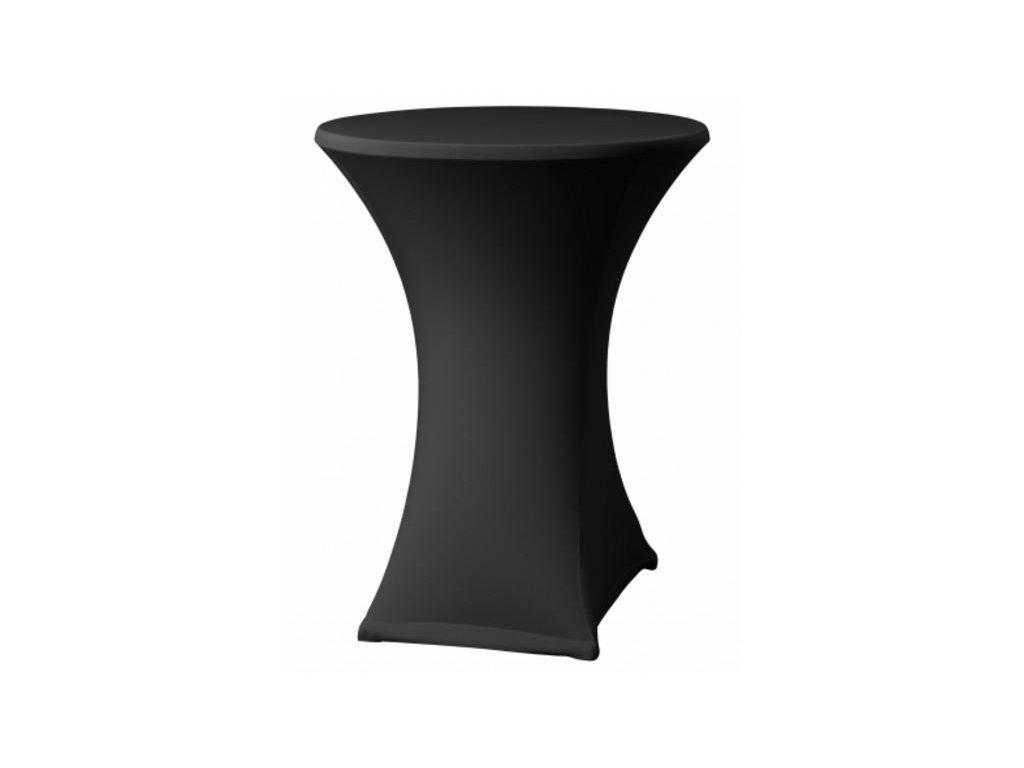 Strečový ubrus na koktejlový stůl černý
