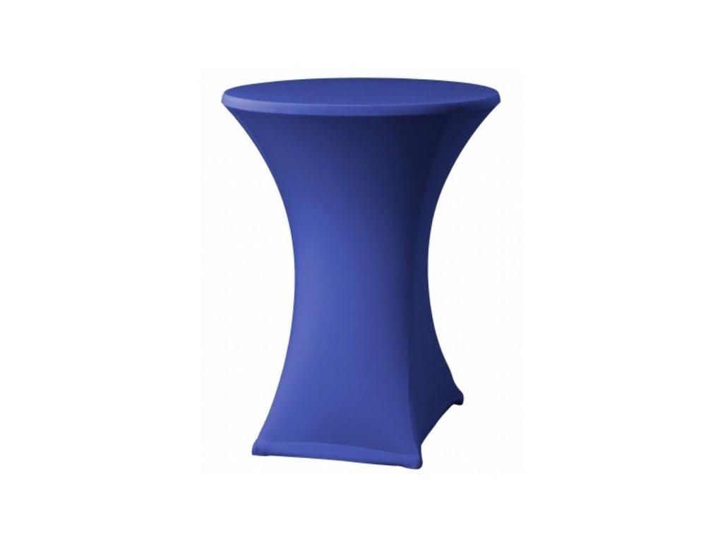 Elastický potah na koktejlový stůl modrý