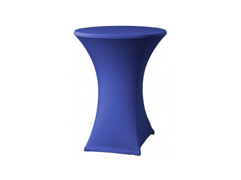 Strečový modrý potah na koktejlový stůl