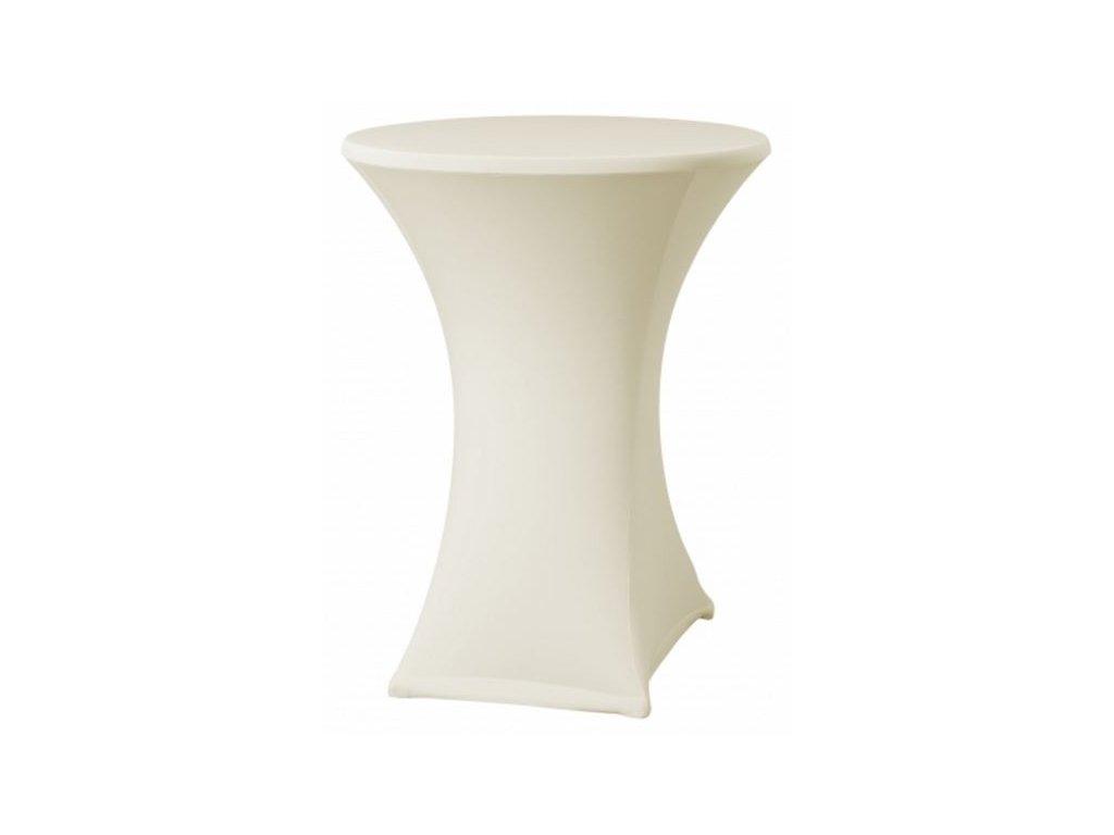 Elastický návlek na koktejlový stůl, barva krémová