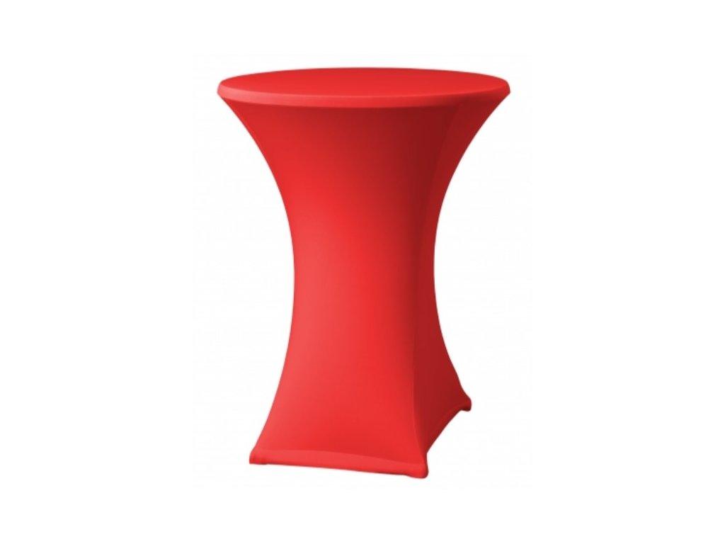 Červený návlek na koktejlový stůl