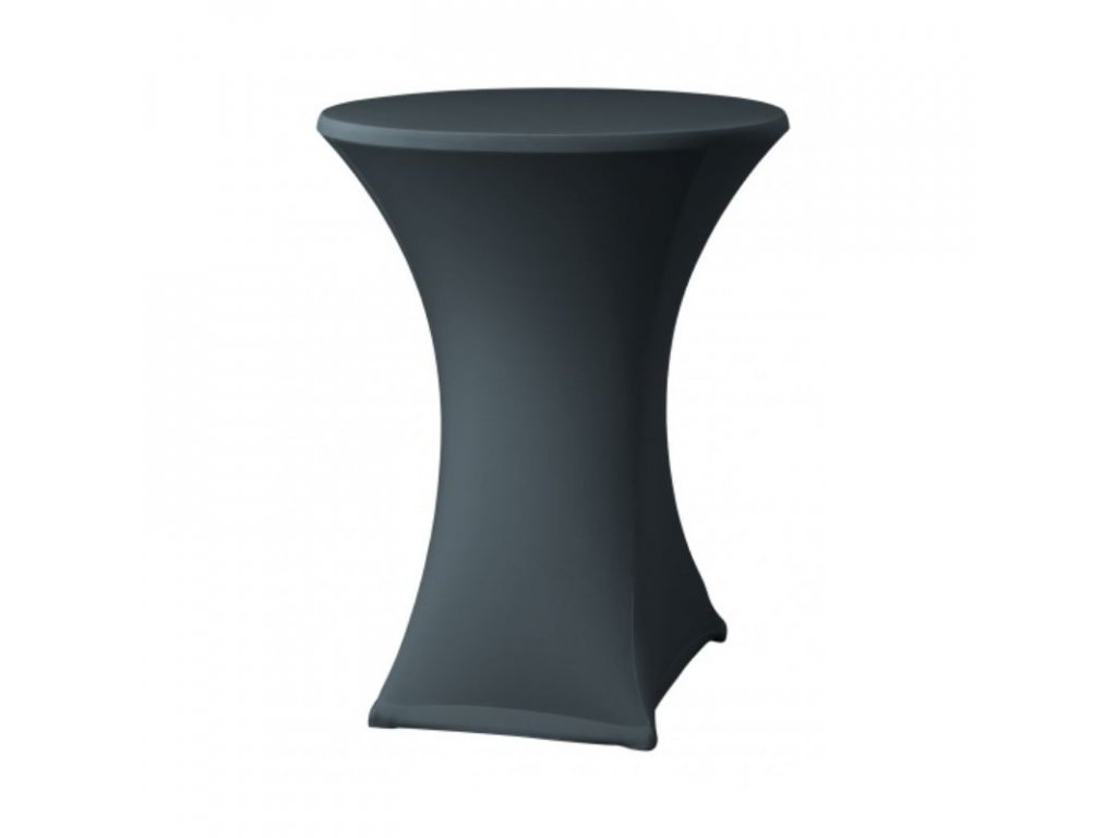 Elastický návlek na koktejlový stůl, barva antracit