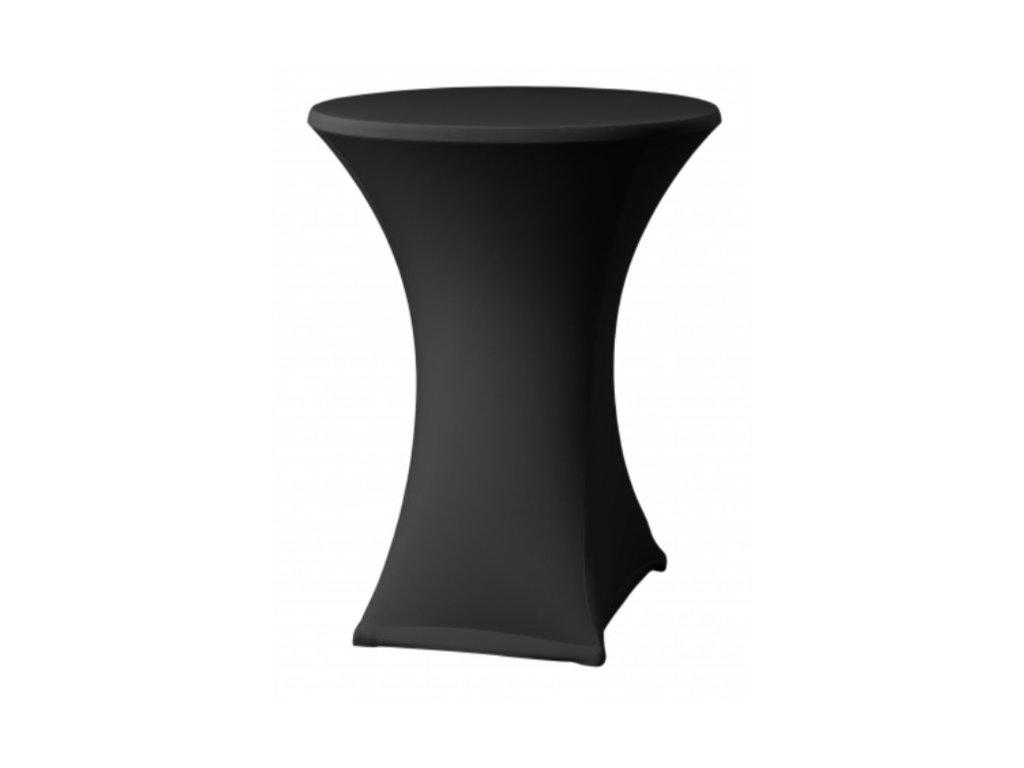 Černý potah na koktejlový stůl o průměru 80 cm
