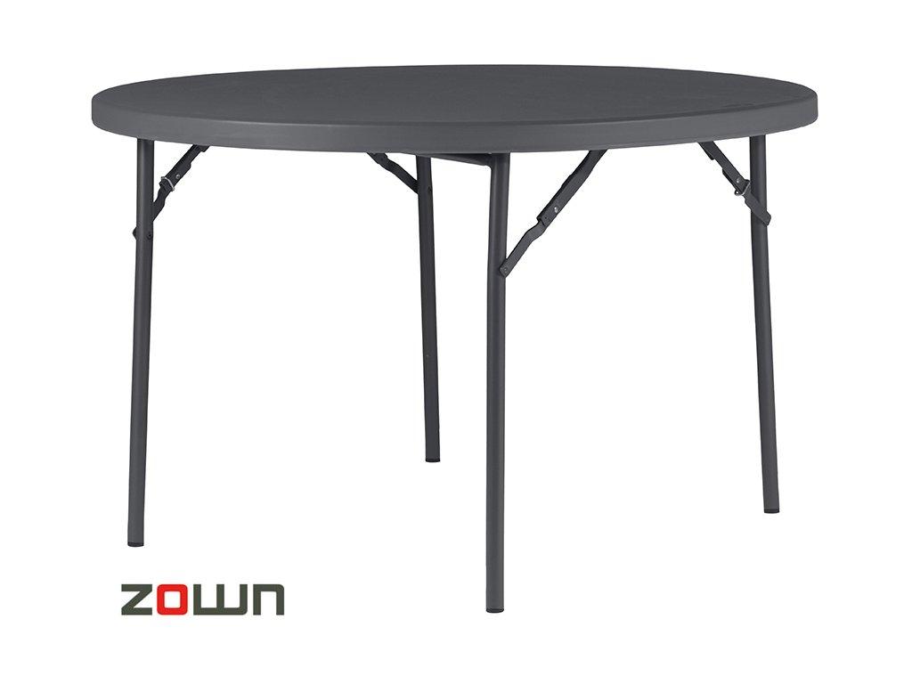 Rautový stůl 122 cm skládací